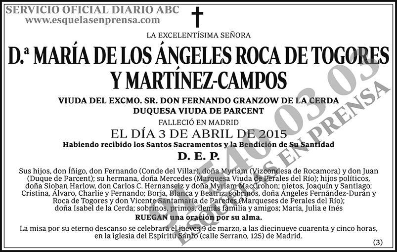 María de los Ángeles Roca de Togores y Martínez-Campos